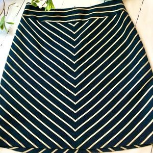 Limited Navy Blue and Tan Shirt Skirt -knee length